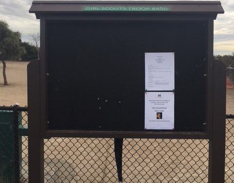 Bulletin Board at Maddox Dog Park Vandalized